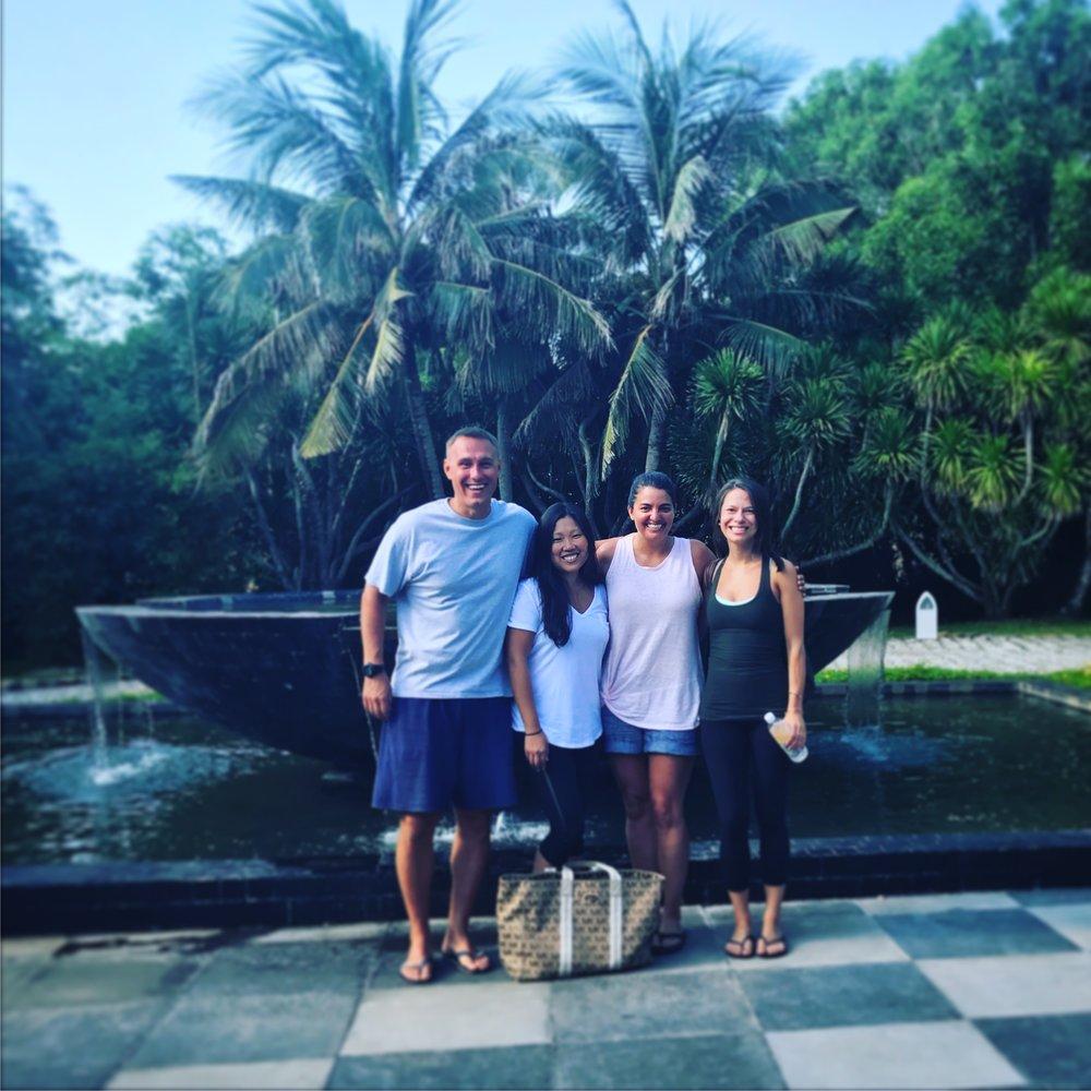 Myself, Kara, Nicole, and Leigh Anna at the Avani resort