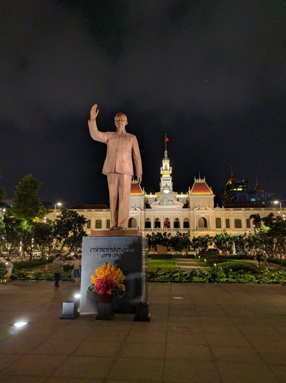 Statute of Ho Chi Minh in Saigon