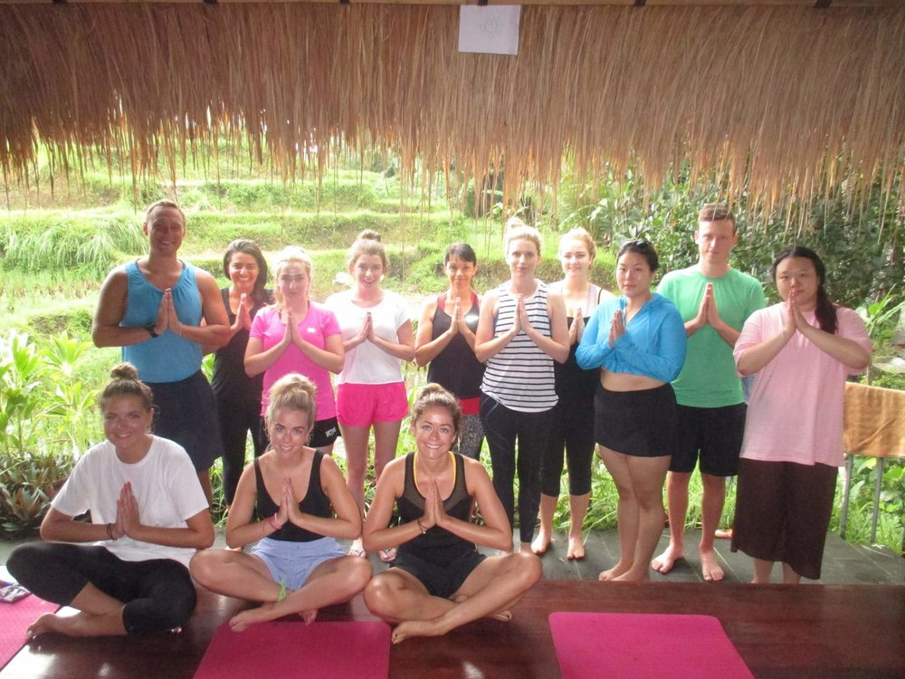After our class at the Ubud Yoga House -- Photo credit: Ubud Yoga House