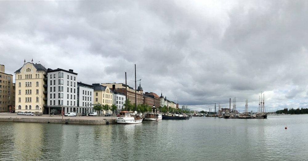 Along Helsinki's waterfront