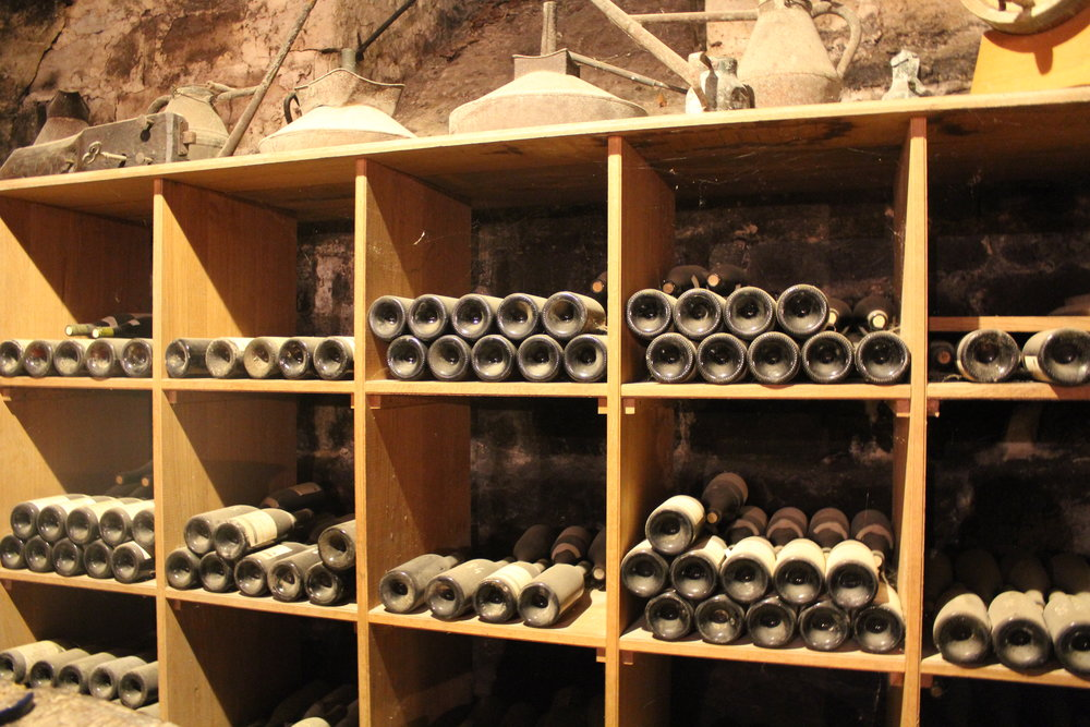 Bottle collection at Domaine Joilet