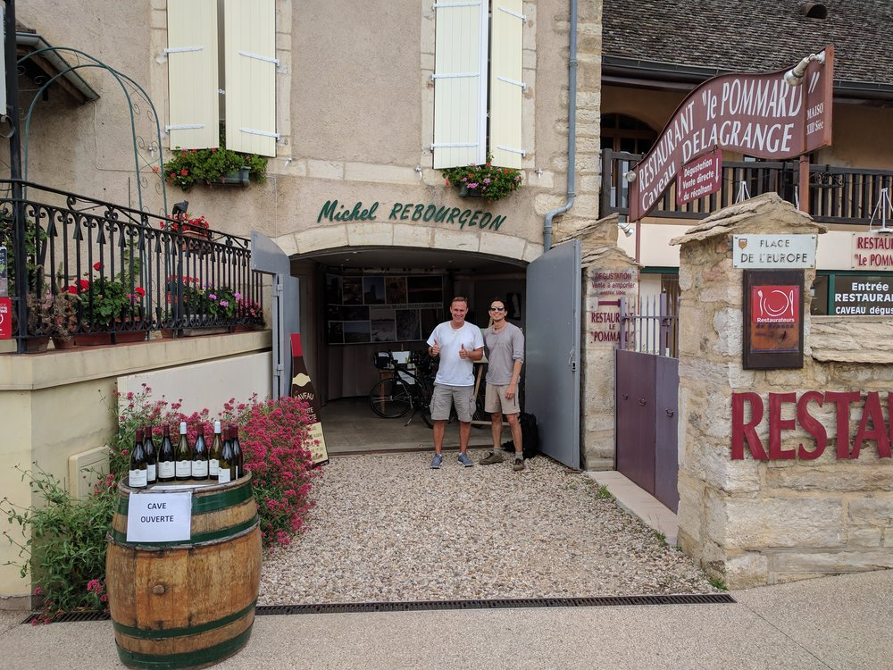 Alberto and I at Domaine Michel Rebourgeon