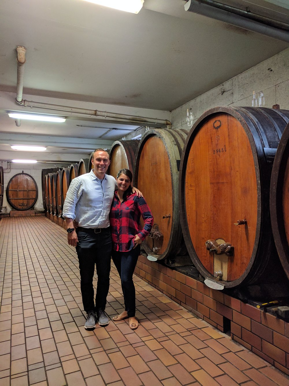 Domaine Riefle's cellar room