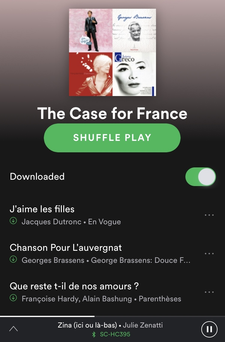Spotify Playlist: - The Case for France