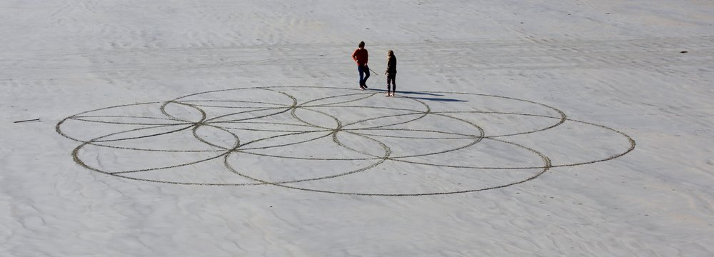 Beach art in Dinard