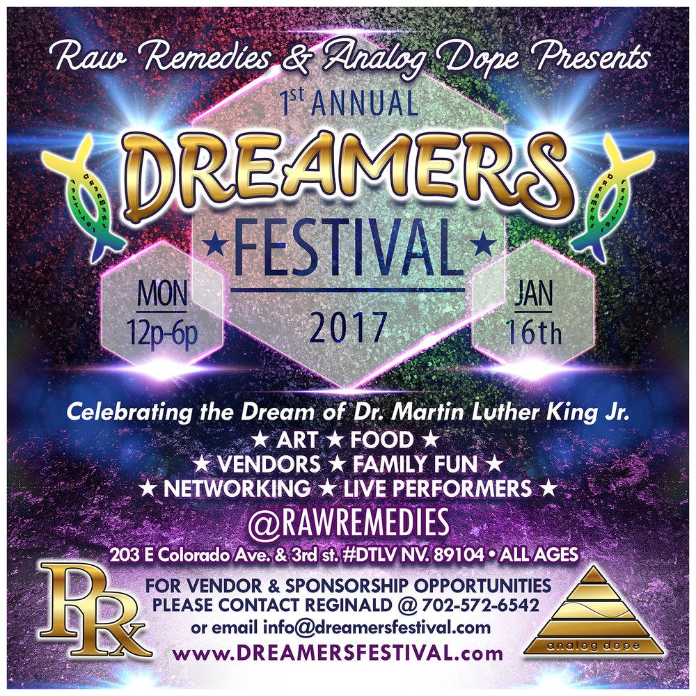 Dreamers Festival Flyer