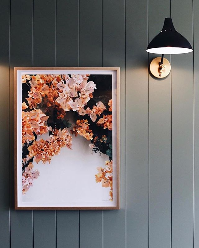 Wow ✨ we love the way @halvorsen_interiors has displayed our Bougainvillea artwork. Captured beautifully by the talented @abbie_melle 💕