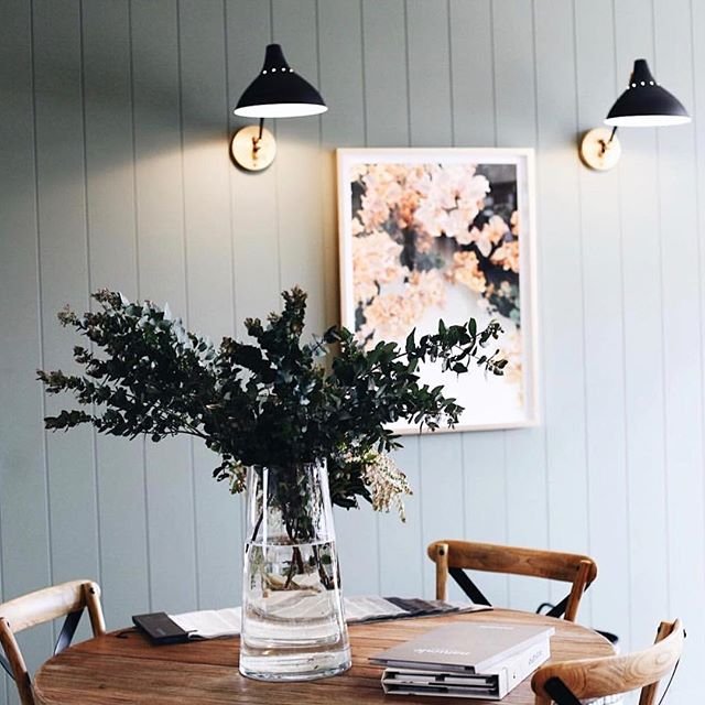 Another beautiful capture by @abbie_melle in the @halvorsen_interiors showroom ✨ and we spot our Bougainvillea artwork 😍 it just pops so beautifully against that panelled wall xx