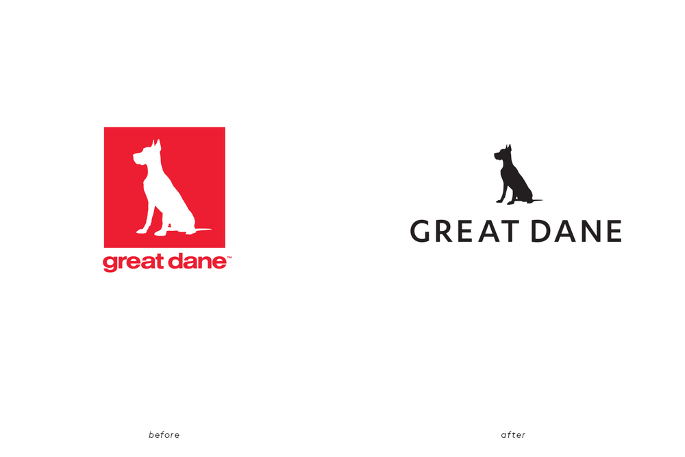 Great Dane Furniture 4 Logo Before After