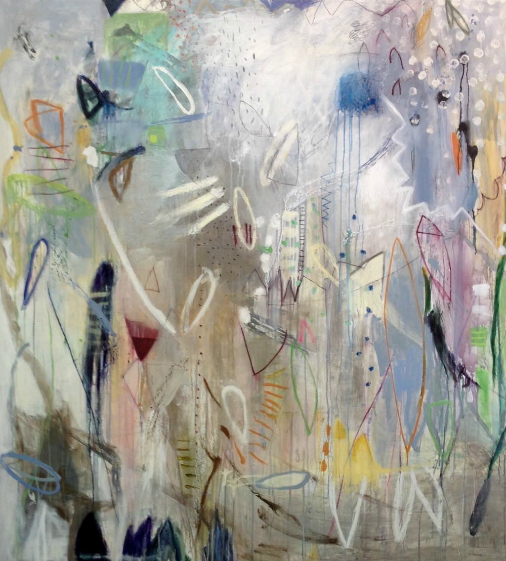 Michelle Breton,  Les Folies , Acrylic on Canvas, 157 x 142cm, $9,900