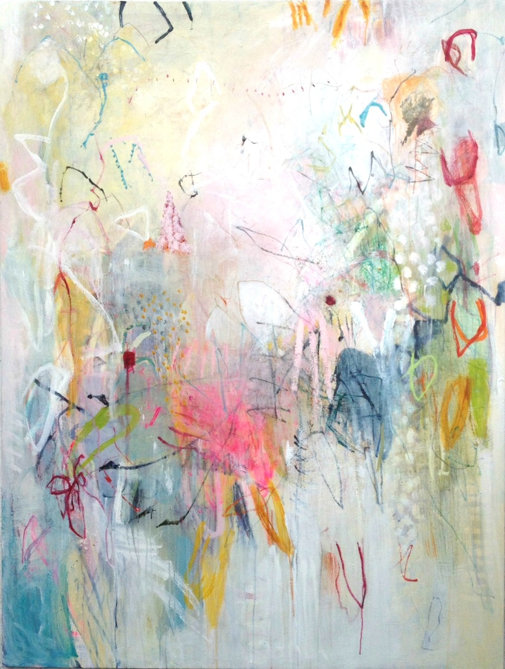Michelle Breton,  Gossamer,  Acrylic on Canvas, 183 x 153cm, $12,000