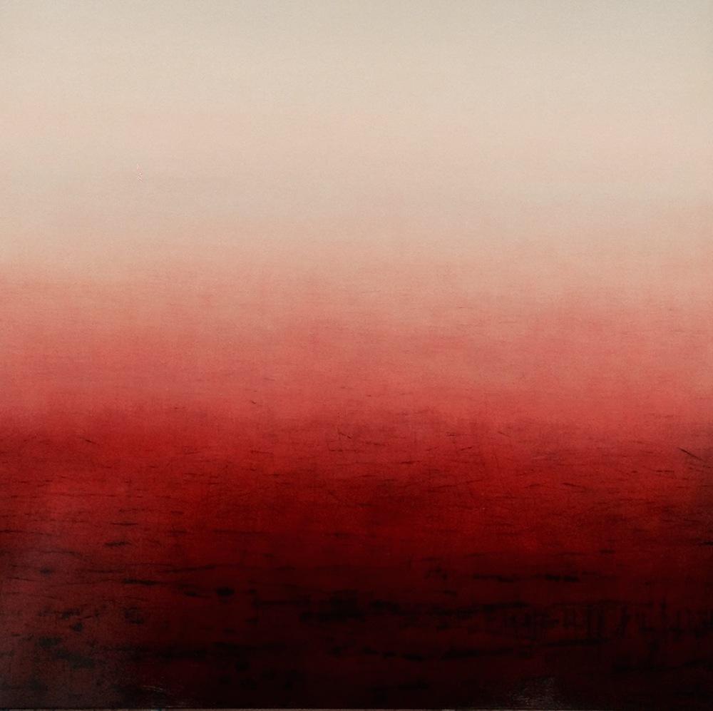Patricia Heaslip,  Monument , Oil on Canvas, 183 x 183cm.