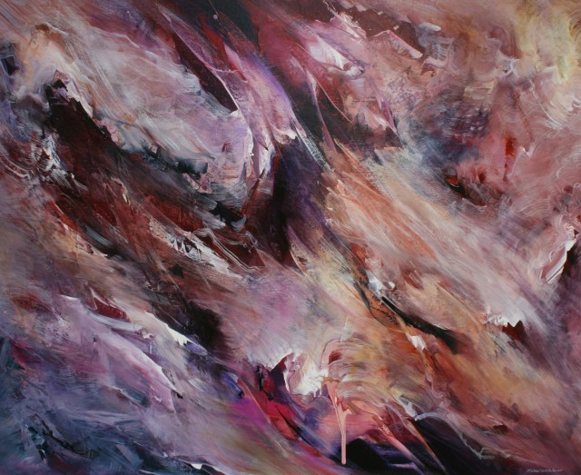 Michael Whitehead,  Release , Mixed Media on Canvas, 120 x 160cm.