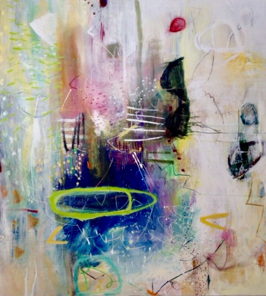 Le-Matin De Bonne Heure , Mixed Media on Italian Canvas, 198 x 182.5cm.