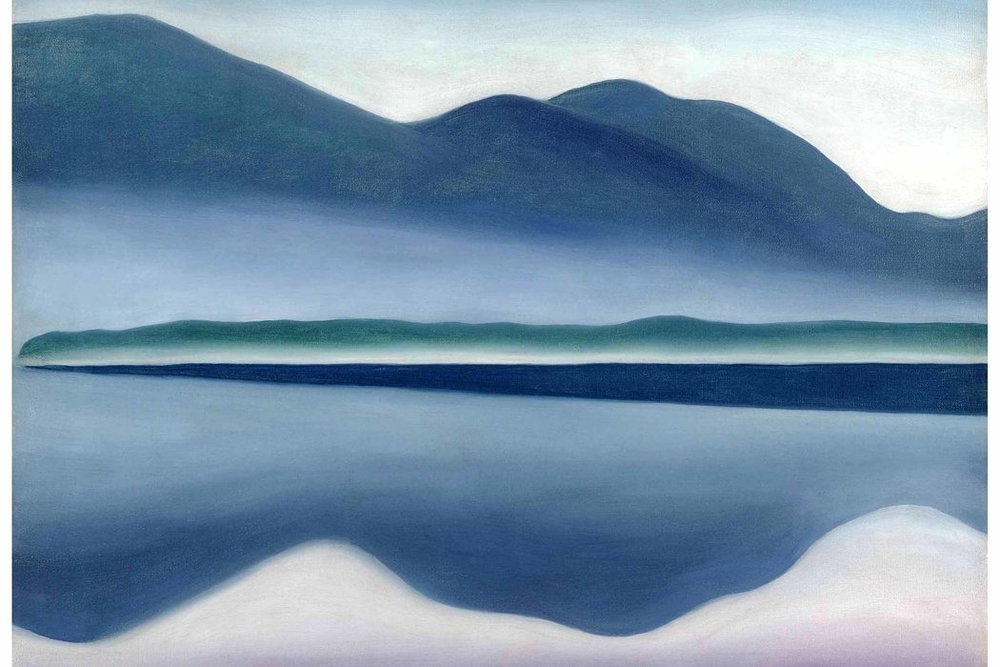 Above: Georgia O'Keeffe's  Lake George (formerly Reflection Seascape) , 1922.  Credit All rights reserved, San Francisco Museum of Modern Art and Georgia O'Keeffe Museum/Artists Rights Society (ARS), New York.