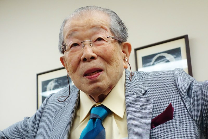 Above:Japanese physician, 105-year-old Dr. Shigeaki Hinohara