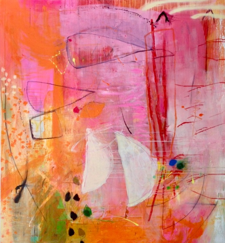 Above: Michelle Breton , Octobre a Ceret  ,    Mixed Media on Canvas, 152 x 137cm, P.O.A
