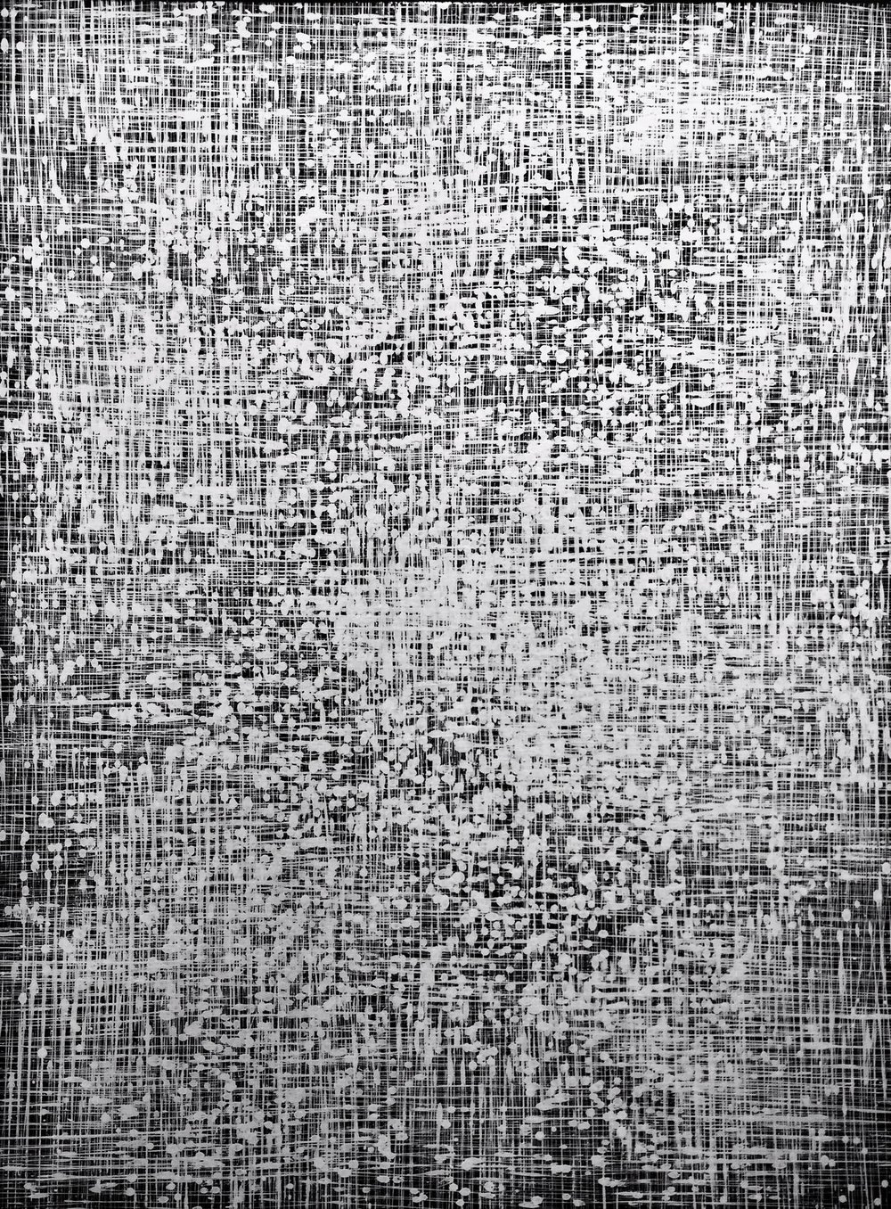 Above: Wilson Lin,  A Glimmering Sheet , Synthetic Polymer Paint on Linen, 122 x 91.5cm, P.O.A