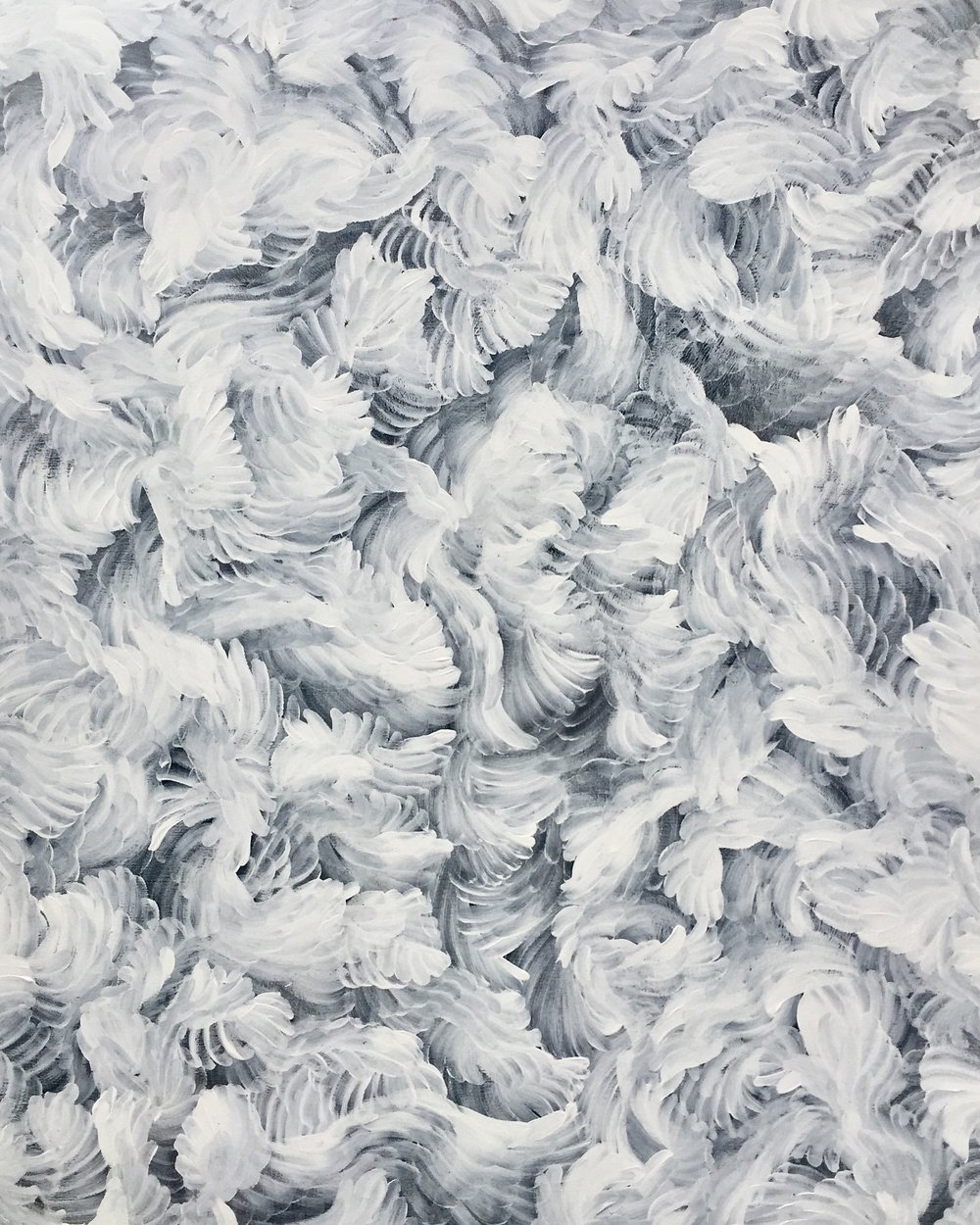 Thierry B,  Euphoria Series - Blanc , 2018, Synthetic Polymer Paint on Canvas, 152 x 122cm, P.O.A