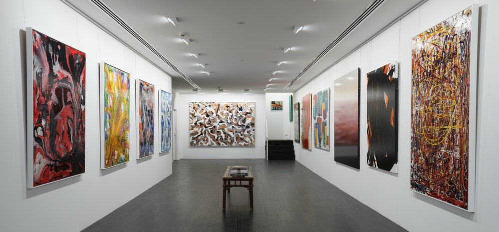 Above: Interior of gallery at Thierry B Fine Art.