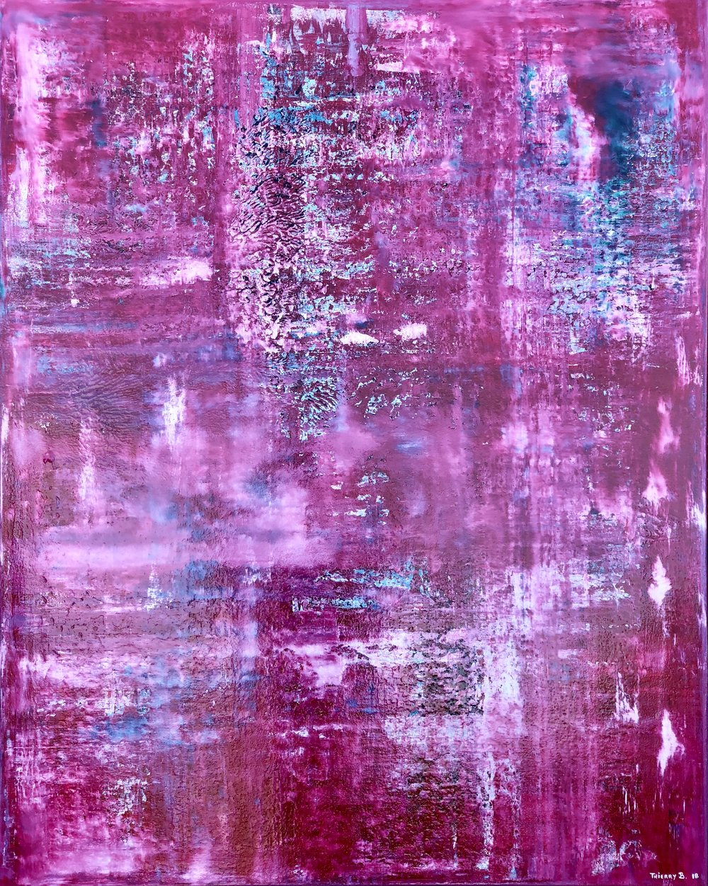Above: Thierry B.,  A Fine Romance , Dreamscape Series, 2018, Synthetic Polymer Paint on Linen, 152 x 122cm, P.O.A