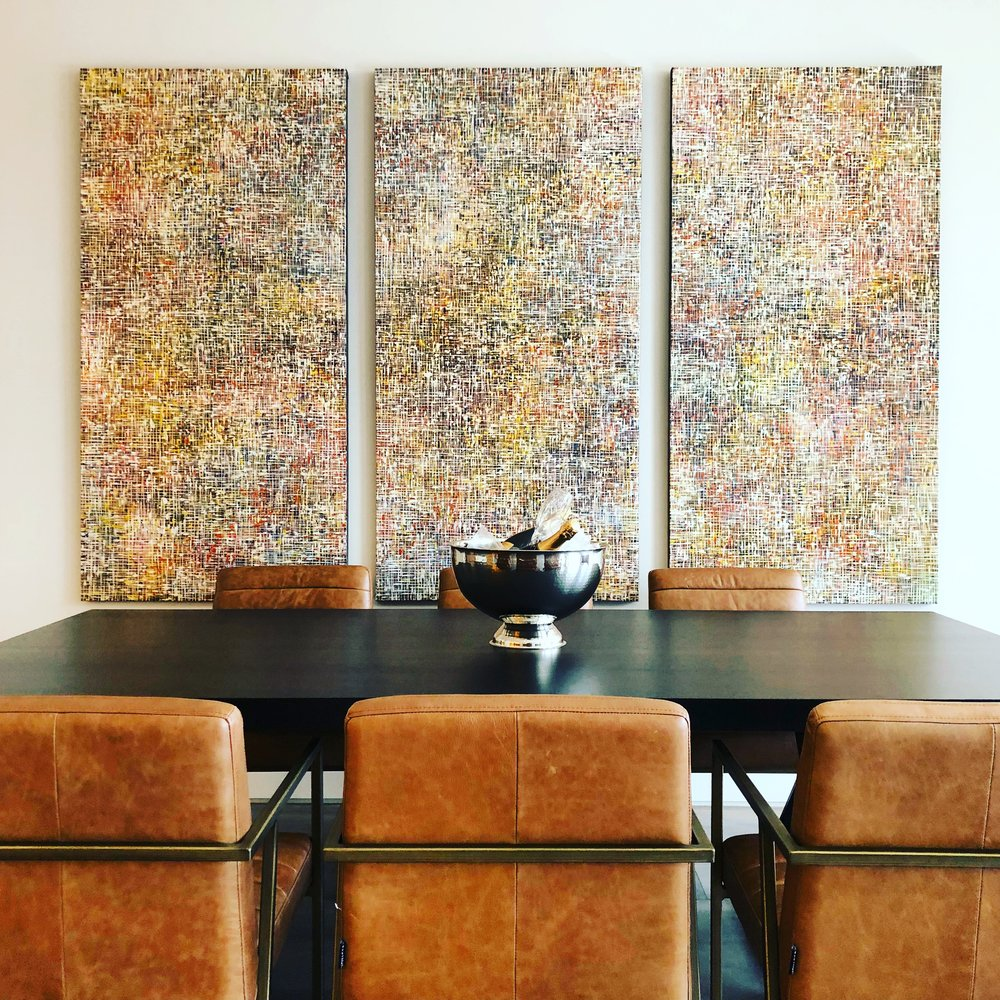 Above: Artwork by   Wilson Lin  ,  The Things We Do For Love,  Fractal Series, Synthetic Polymer Paint on Canvas, 183 x 274.5cm (triptych). Price on Application:   art@thierrybfineart.com