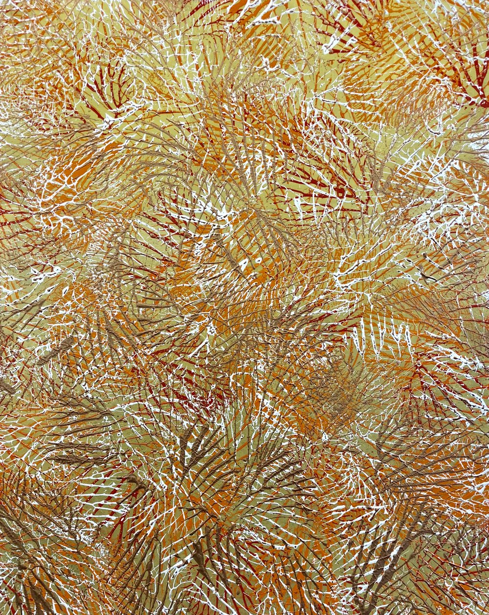 Above: Artwork by   Thierry B.,    Entanglement , 2018 Coral Series, Synthetic Polymer Paint on Linen, 152 x 122cm. Price on Application:   art@thierrybfineart.com