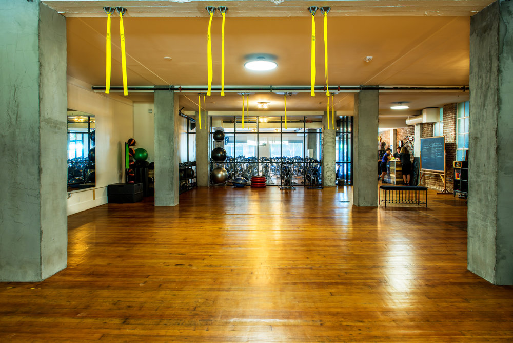 The TRx and strength training gym