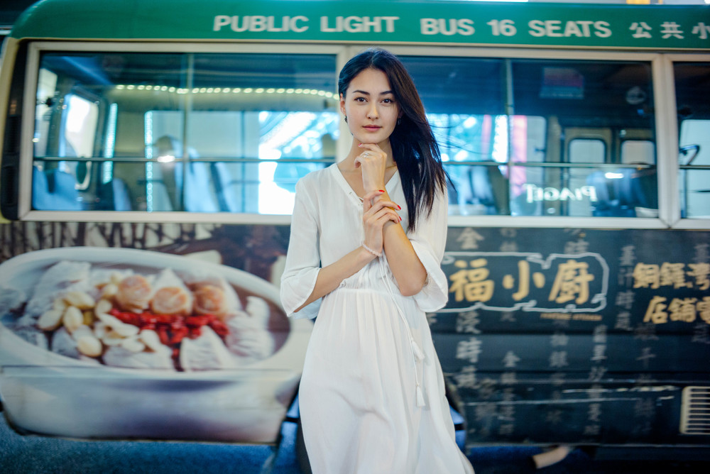 35mm f/1.4 Summilux AA - stopped down in order to better freeze the moving bus in the background.