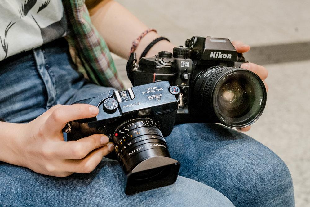 Leica MP6 + Nikon F4