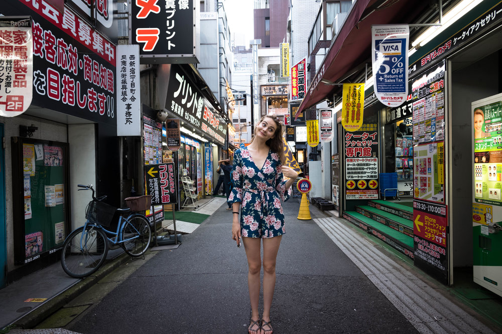 Looking for film in Shinjuku
