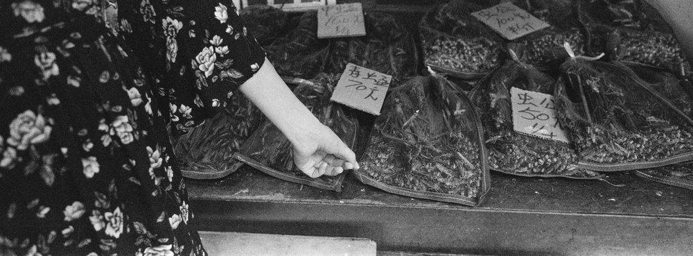 At the bird market in Kowloon - Ilford Delta 3200