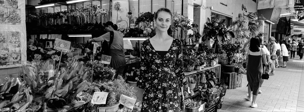 At the flower market in Kowloon - Kodak Tri-X 400