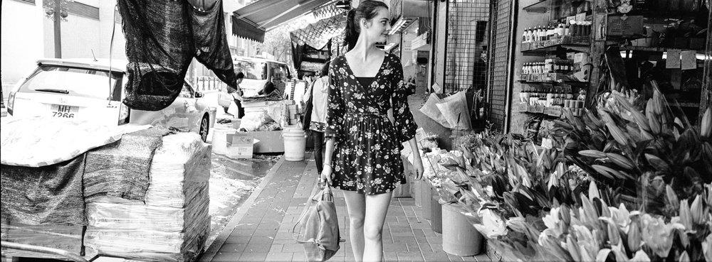 At the flower market in Kowloon - Kodak Tri-X 400