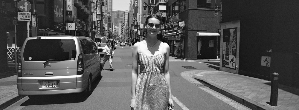 On the street, at the Ginza - Ilford XP2 Super 400