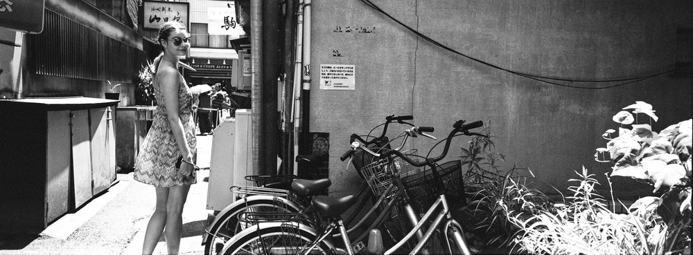 Side street, at the Ginza- JCH Street Pan 400