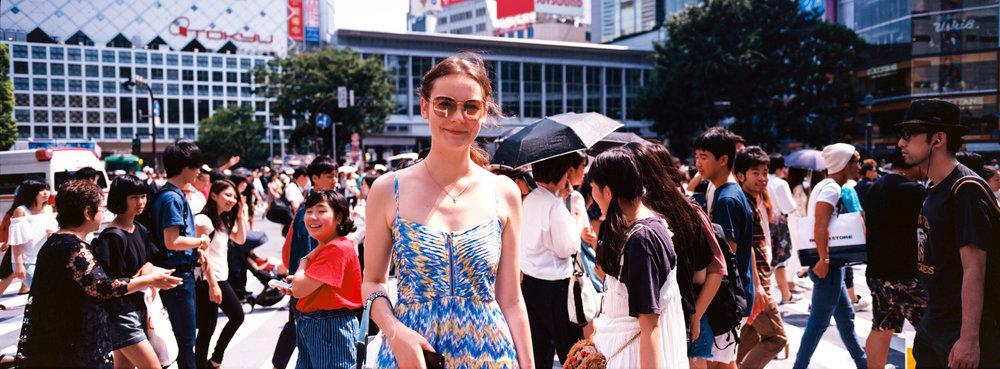 In Shibuya, at the crossing - Kodak Ektar 100