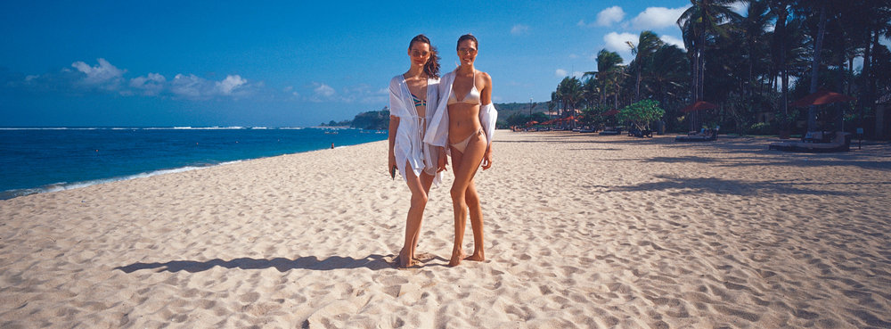 At the beach, Bali - Kodak Ektachrome 100 (may have been exposed to light)