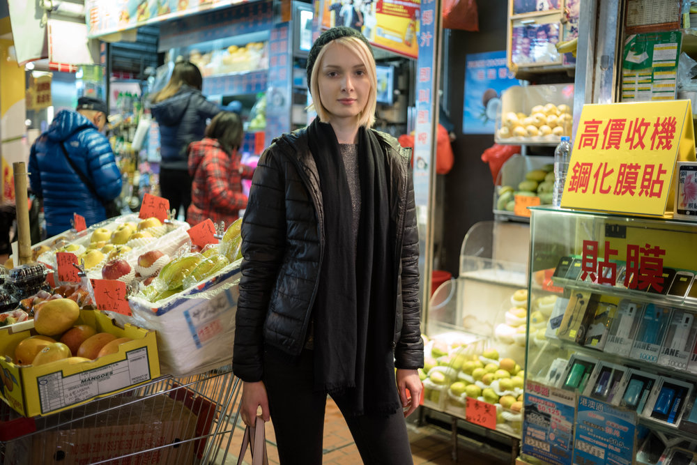 Leica 35mm f/1.4 Summilux AA - ISO 800 - Judit wanted a picture by a fruit stand.
