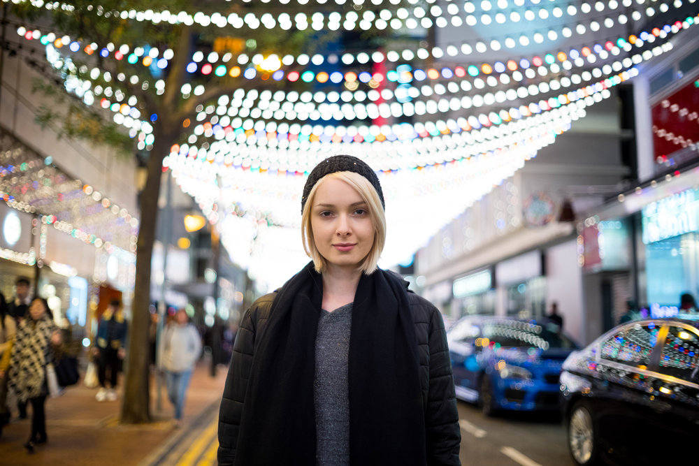 Leica 35mm f/1.4 Summilux AA - ISO 400 - at the 35mm focal length and shot from a further focusing distance, the lights strung over the street appears to have the best balance of bokeh and definition.