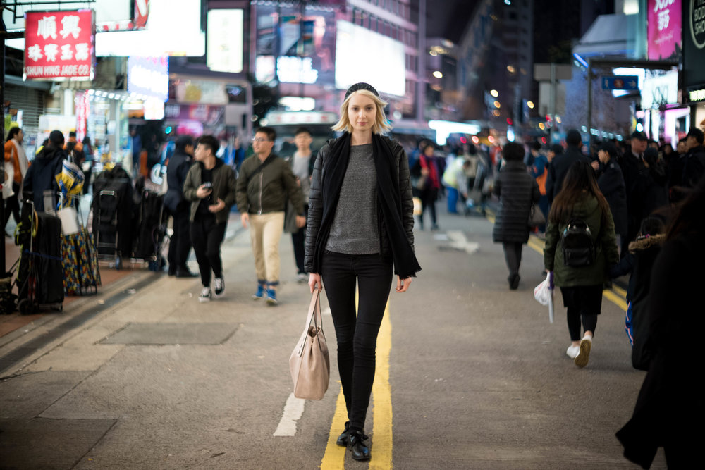 Leica 50mm f/1.2 Noctilux AA - ISO 800 - Tracking focus wide open on this lens with Judit walking towards me and her eyes outside the focusing square is not an easy task to perform.