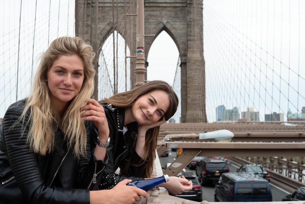 At the Brooklyn Bridge.