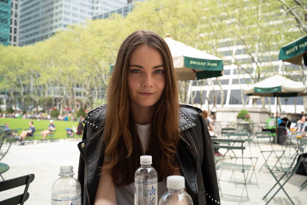 Anna at Bryant Park