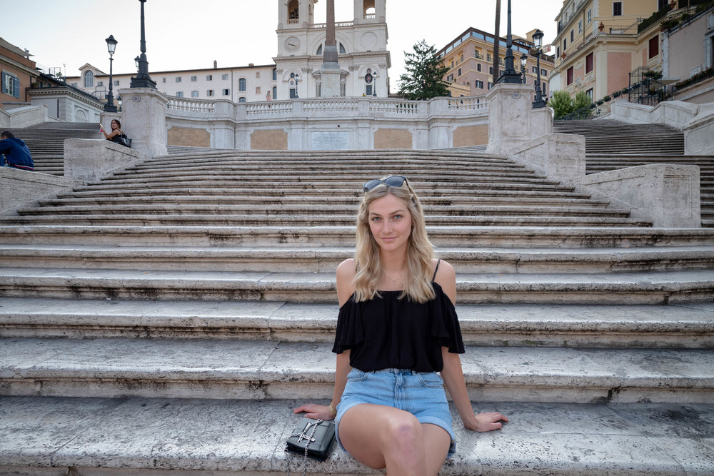 Leica M10 + Leica 21mm f/3.4 Super Elmar-M ASPH - It doesn't matter how far away the top of the steps are. Since the Piazza Spagna is already so iconic, the need for background detail isn't as pressing to establish relevance of the location. A wider angle of view is ideally suited to cram as much background into the documentation as possible.