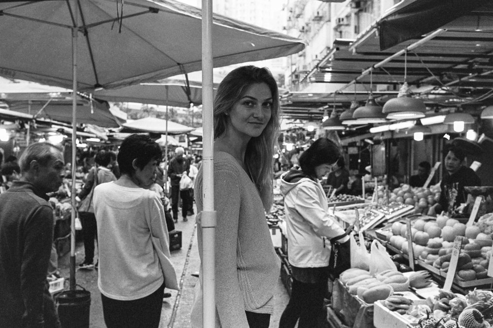 "Leica M6-J + Leica 35mm f/1.4 Summilux-M ""Steel Rim"" + Kodak Tri-X 400 - Note - the plastic bags in frame are in context with the captured environment… I mean, this is a market."