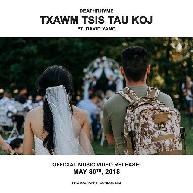 Stay tuned for @deathrhyme upcoming MV for 'Txawm Tsis Tau Koj ft. David Yang' releasing this Wednesday. @dalekeano @goolim