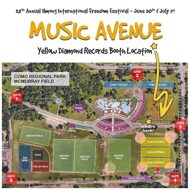 5 days until the 38th Annual Hmong Freedom Festival in St. Paul, MN! 💛 This year, YDR partnered up with The United Hmong Family, Inc. to bring you this Music Avenue: a place where attendees can find the latest music from their favorite Hmong artists and new-rising artists - all in one area! 💛 YDR will have a booth featuring new music from @davidyangmusic, @deathrhyme , and @vuepeter . Can't wait to see you there!