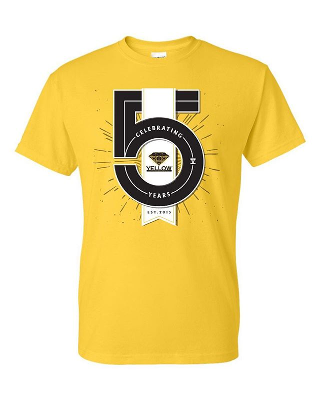 Happy 5th year anniversary to YDR! We wouldn't have made it this far without all of your support. Our staff and volunteers will be wearing this exclusive yellow t-shirt for our events. Come out and celebrate with us at the Muse Event Center tonight! Tickets are still available at door for $35 general and $40 VIP. See you there!  #YDRsummerjam