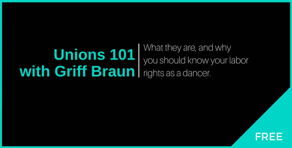 Unions 101 Cover - The Working Dancer.png