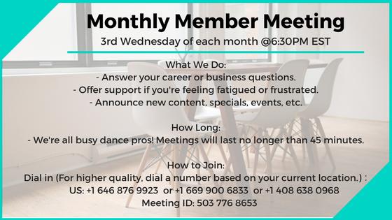 monthly member meetings progress membership the working dancer.png